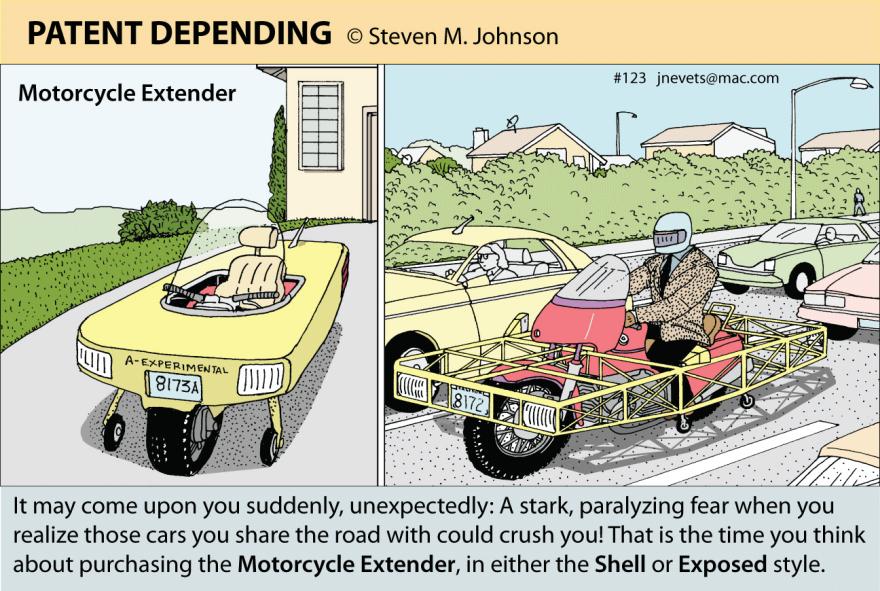 Calendar Extender Design : Steven m johnson s bizarre invention the motorcycle
