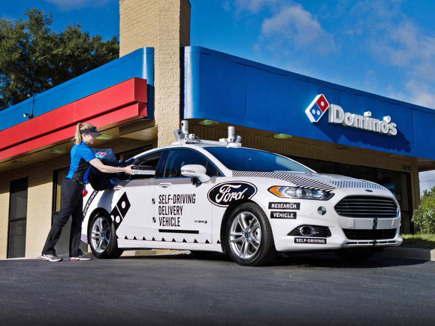 Ford and Domino s Running Autonomous Pizza Delivery Vehicle Trial