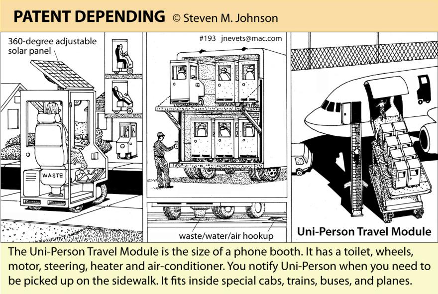 Steven M. Johnson s Bizarre Invention #193: The Uni-Person Travel Module