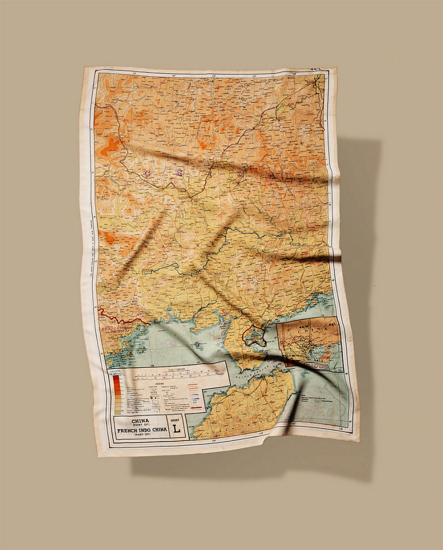 The silk maps were recently recreated by a modern store