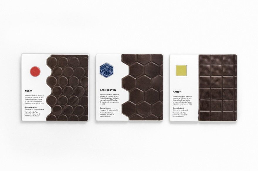 Surprisingly Appetizing Chocolate Bars Inspired by the Tiles at Paris Métro Stations