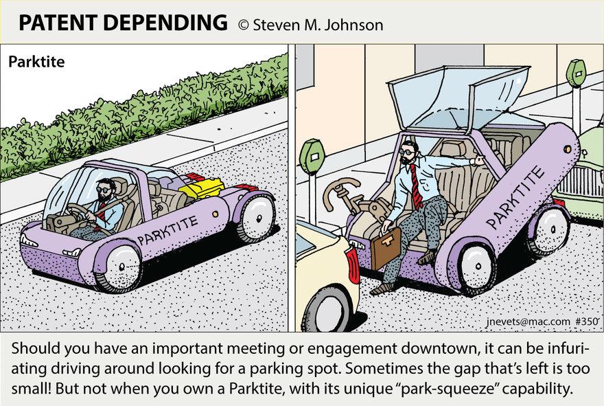 Steven M. Johnson\'s Bizarre Invention #350: The Parktite Car - Core77