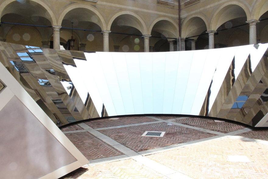 Behind the Scenes of COS x Phillip K. Smith III s Reflective  Open Sky  Installation at Milan Design Week
