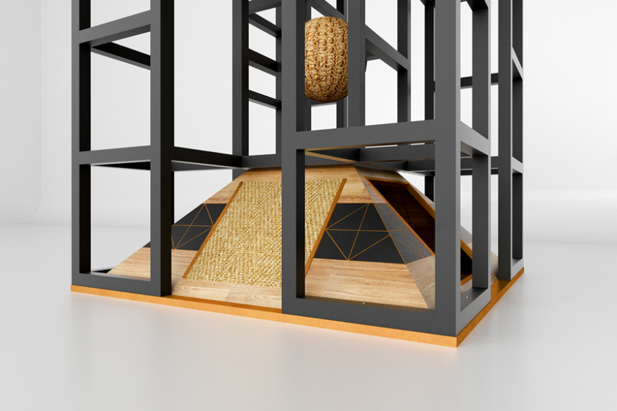 Cat Furniture Inspired By Ancient Egyptian Pyramids And