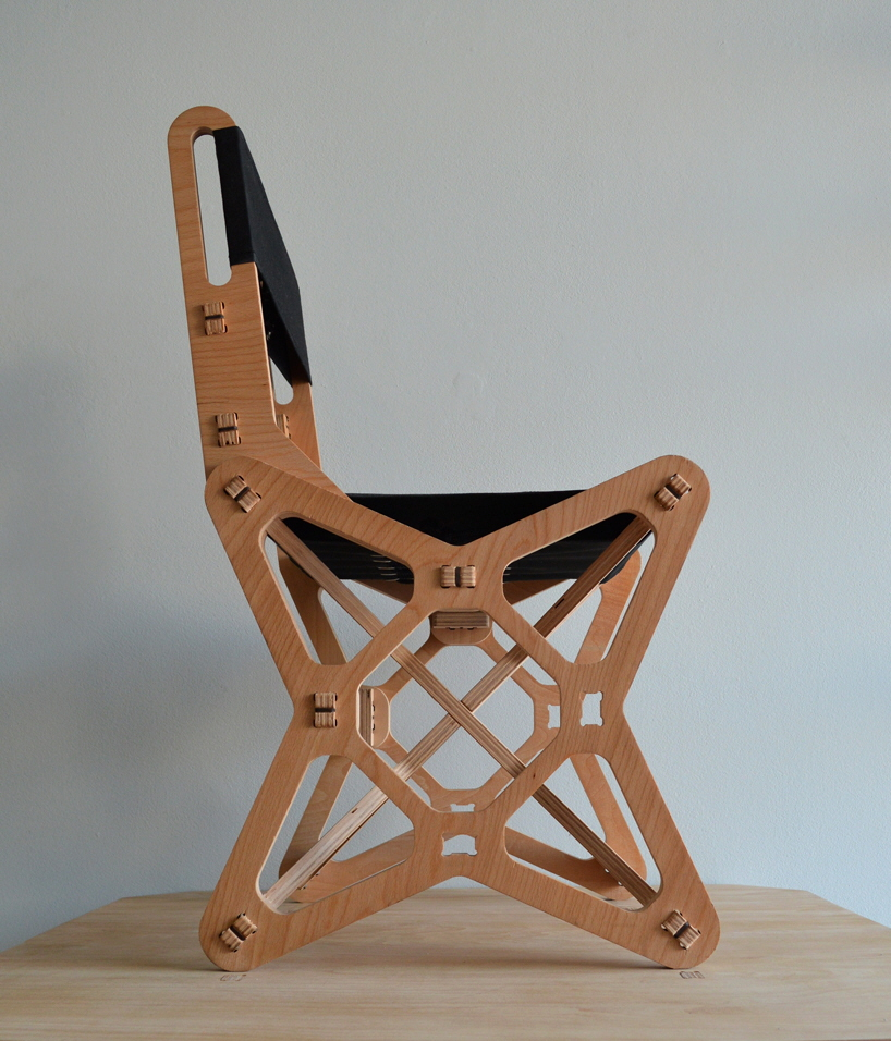 Electron Chair A Waste Free Flat Pack Furniture Solution