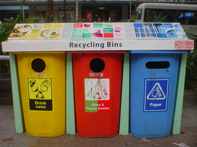 Recycling bins along orchard rd singapore core77 - Rd rubbish bin ...