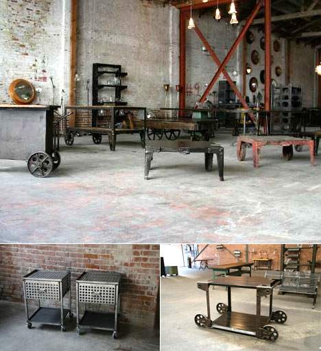 Los angeles getting cleveland art 39 s recycled industrial for Industrial design chair
