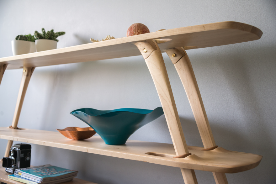 Flatpacked Multi-Tier Shelves Resist Sliding with the Help of Leather ...
