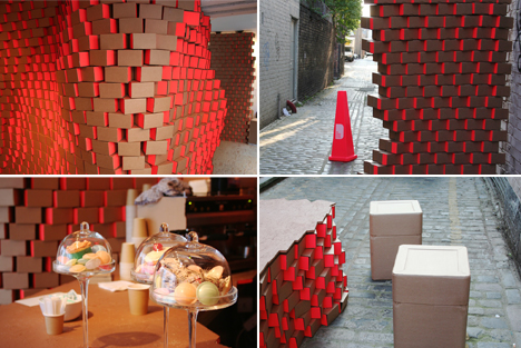 Interior Architects B3 Designers Have Turned Their East End Studio Into An Intriguing Cardboard Cafe Made From 8000 Boxes