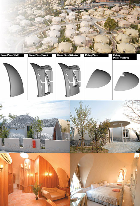 I dome homes put the dome in domestic bliss core77 for Japan dome house price