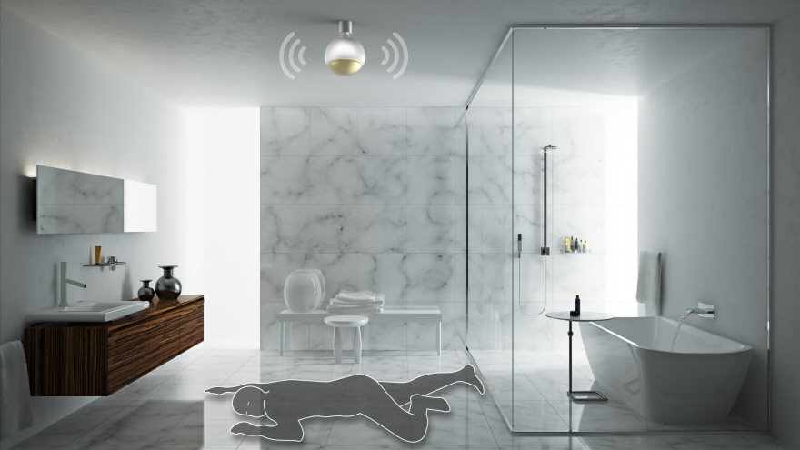 Smart Bathroom a duo of smart home monitoring devices for bathroom safety - core77