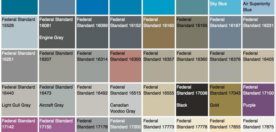 Federal Standard Color Chart Ibovnathandedecker