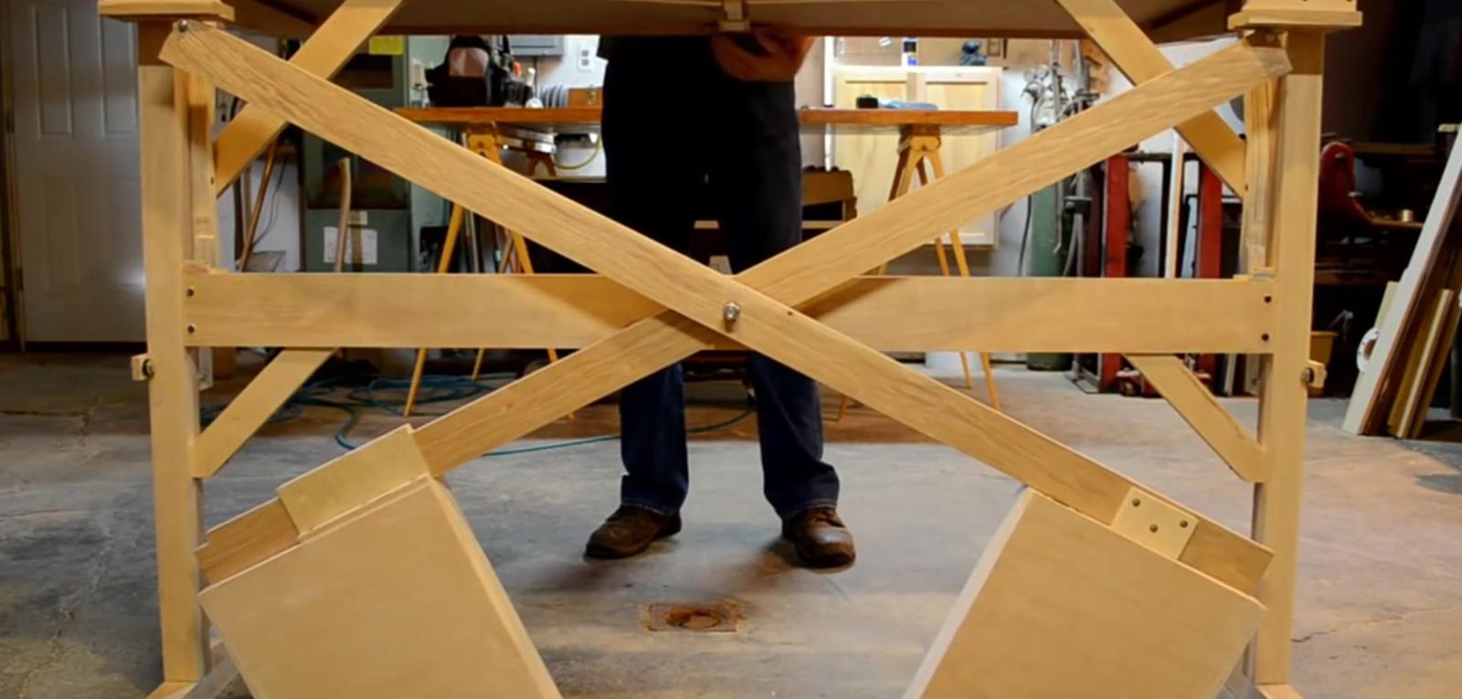 Scott Rumschlags DIY MotorFree HeightAdjustable Standing Desk - Adjustable height desk diy