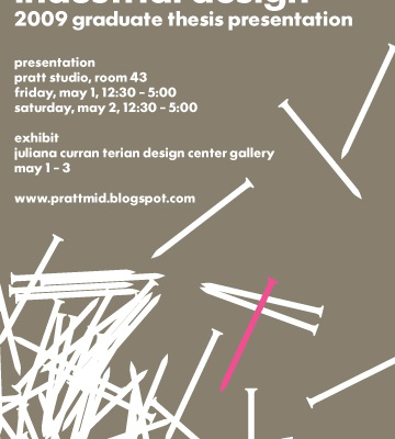 pratt id thesis Thesis presentations will be held friday, april 27, 2007 at 9 am, in the design  center, in ps 43 pratt's main campus is located at 200 willoughby ave,  brooklyn.