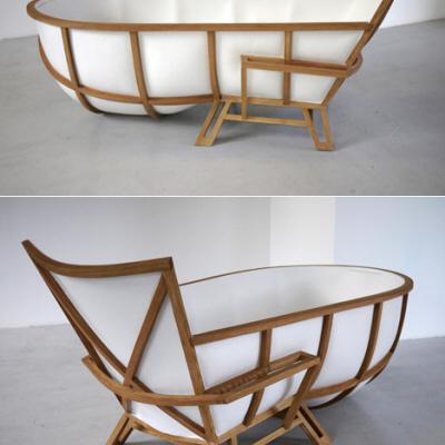Thomas Linssen on a bathtub as furniture Core77