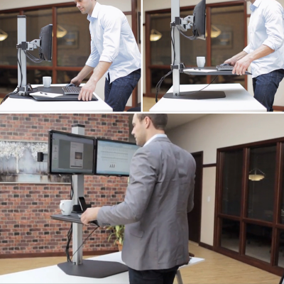 the winston workstation a tabletop approach to standing desks core77