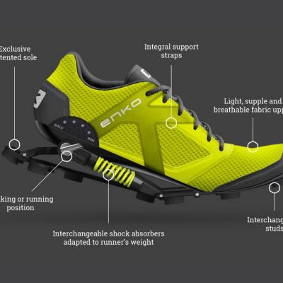 Enko's Energy-Returning Running Shoes - Core77