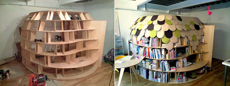 Build your own book-cave for sleeping in - Core77