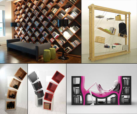 Here's an exhaustive roundup of innovative shelving, some you've seen  before, ...