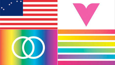Studio 360 asked Worldstudio to redesign the 30-year old gay pride flag