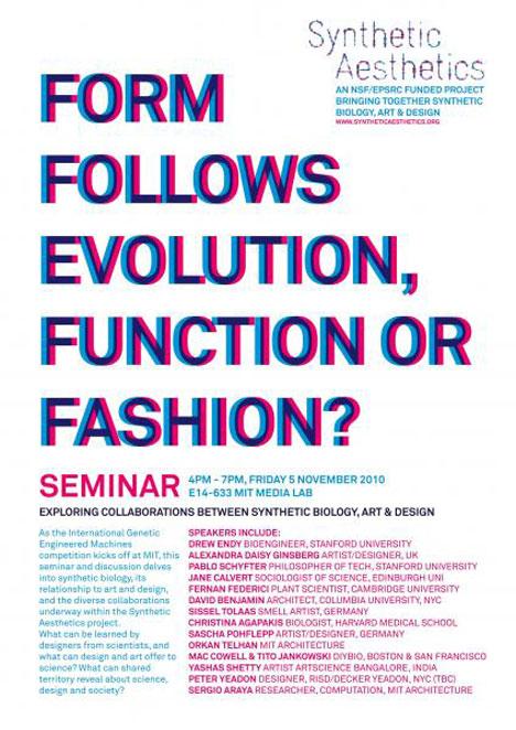 Synthetic Aesthetics Seminar - Form Follows Evolution, Function or ...