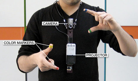 Mit S Wearable Quot Sixth Sense Quot Device Turns Any Surface Into