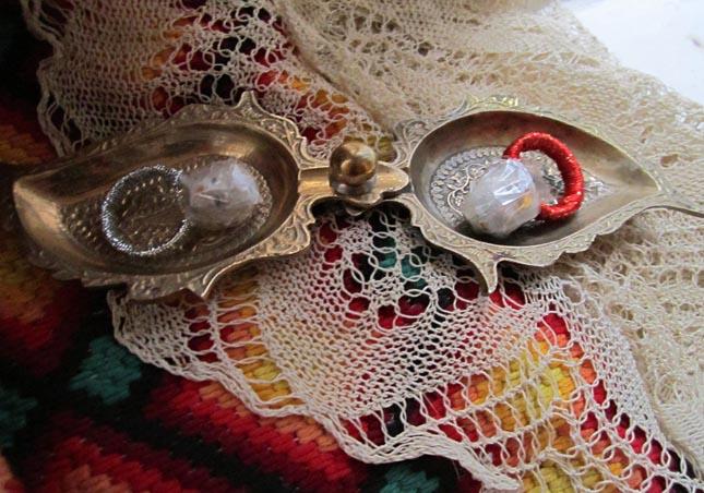 Wedding rings Assembled from random goods of various flea markets