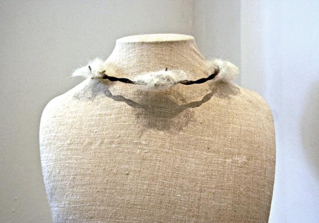 Attractive Brit Leissler Wool And Wire Choker Found At The Wool Modern Exhibition  Www.woolmodern.com Design