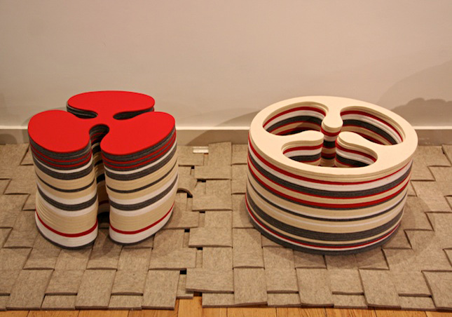Brit Leissler One Cut Stools Built Up By Layering Pieces Of Wool Felt, The  Seat And Base Are One. The Pieces Exist In Two Shapes That Share The Same  Die But ... Great Ideas