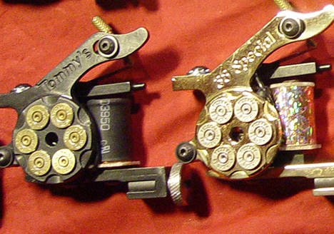 "Not surprisingly tattoo machines are often also referred to as ""guns""."
