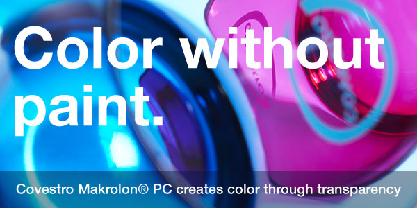 Covestro Makrolon® PC creates color through transparency