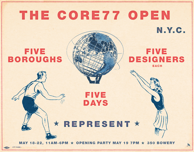 The Core77 OPEN: FIVE BOROUGHS, FIVE DESIGNERS (each), FIVE DAYS
