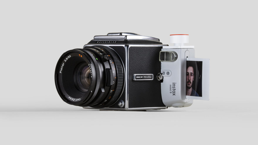 Reader Submitted: A 48-Hour Project to Merge a Hasselblad 500C/M and a FujiFilm Instax 9