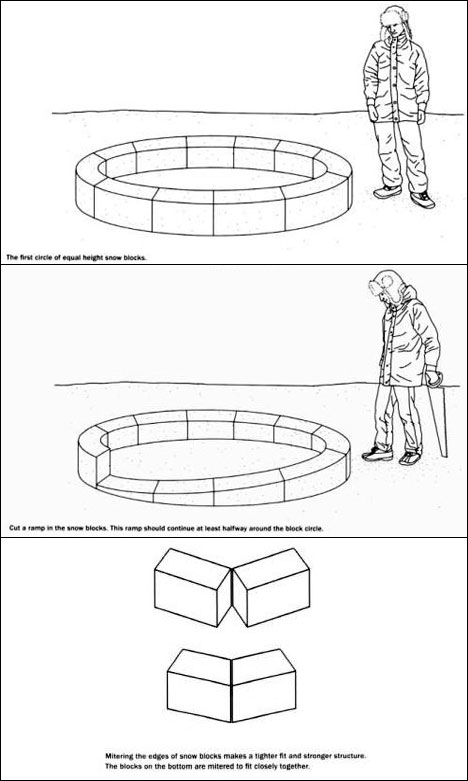 Snow Shelter Design Get Into It Like An Inuit Core77