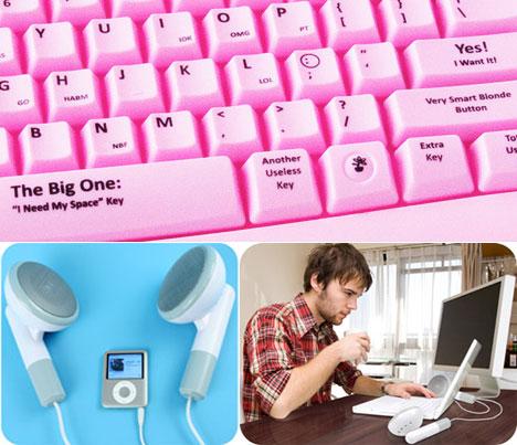 Gag-gift keyboard and speakers - Core77