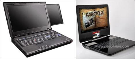 Two dual-screen laptops - Core77