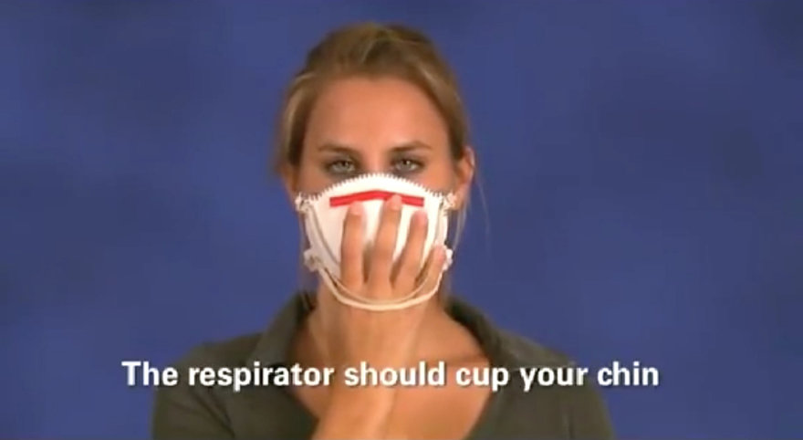 How Healthcare Professionals Check For a Good Fit and Seal on a Respirator Mask