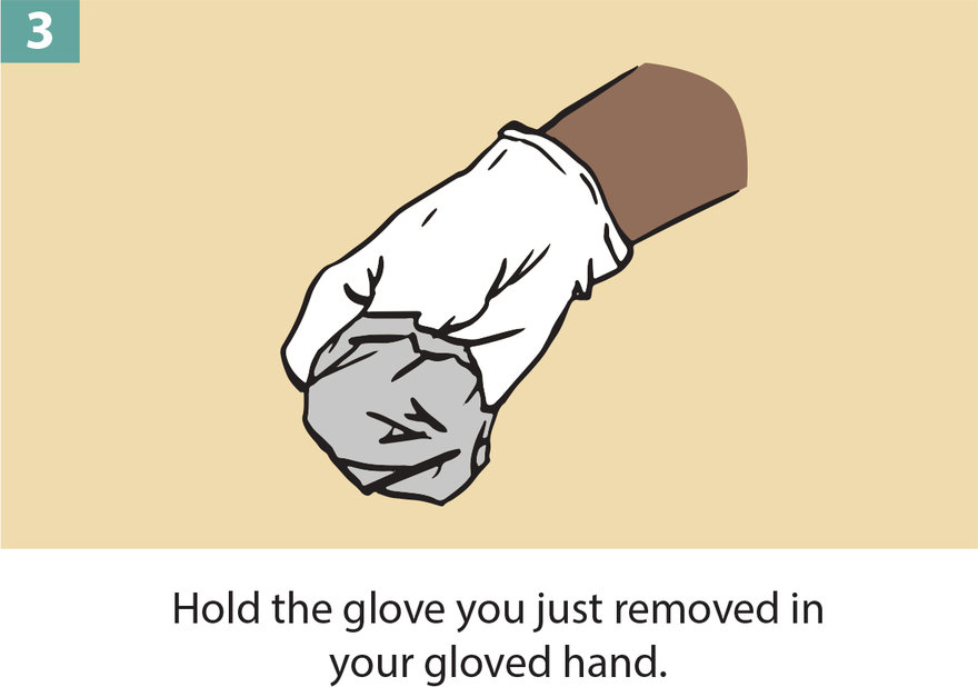 How to Remove Protective Gloves Without Contacting the Outside of Them With Your Bare Hands