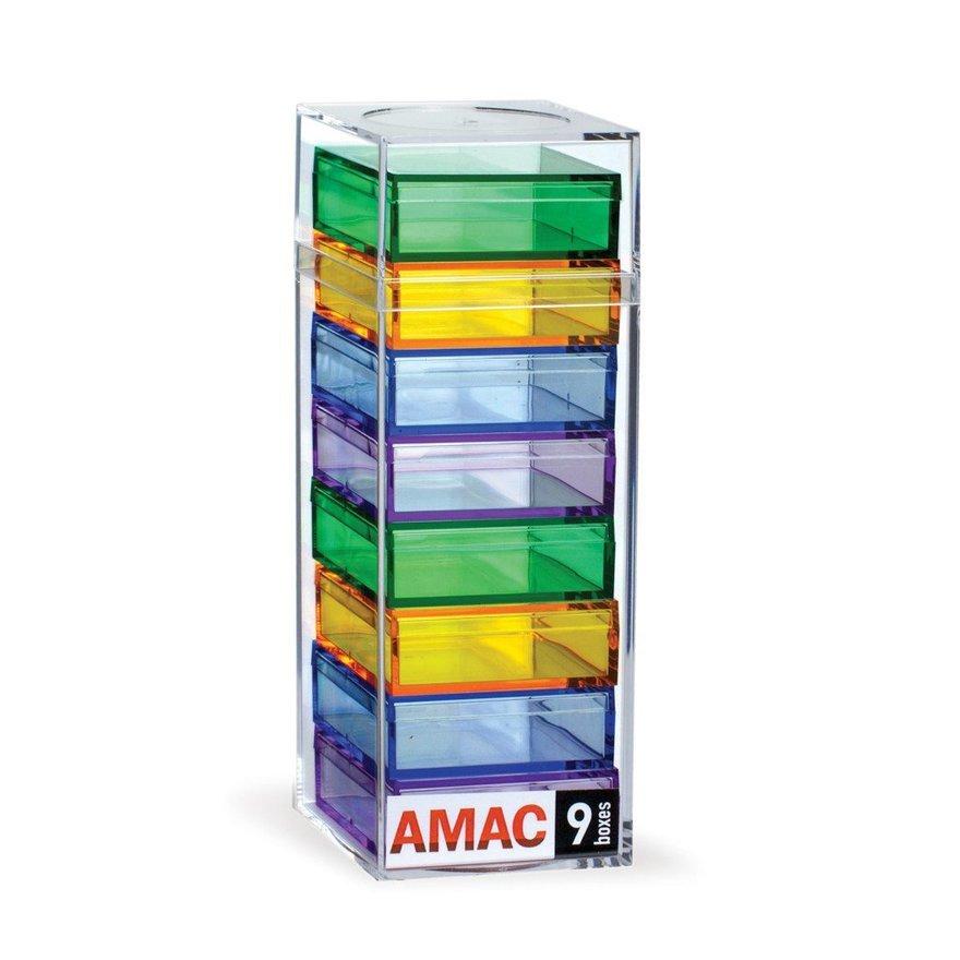 AMAC's Acrylic Chroma Desktop Storage Units