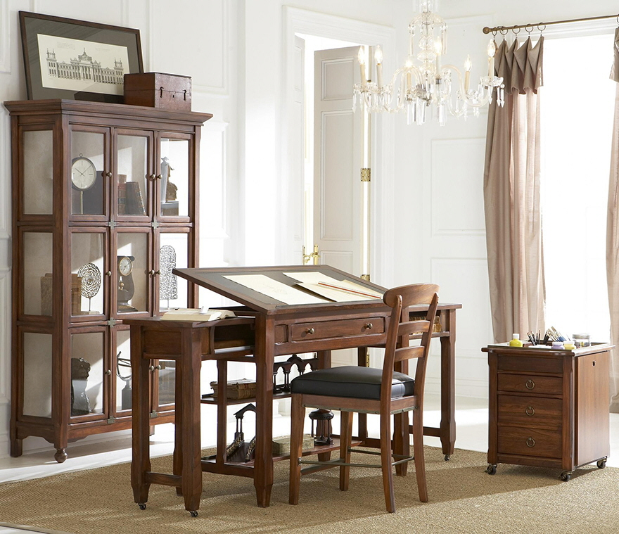 Faux Vintage Drafting Tables That Expand Core77