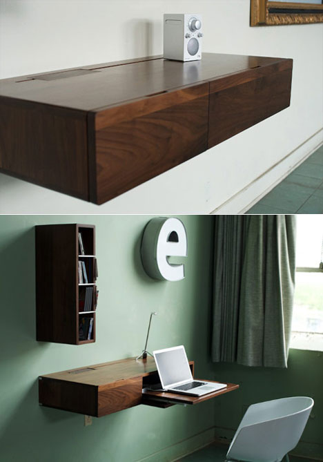 A Minimalist Wall Mounted Piece Of Furniture That S Well Wver You Want It To Be Shelf Pull Out Laptop Desk Media Center Or Just Plain