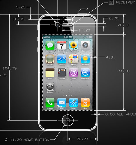 Cool Actual Iphone 4 Cad Drawings Core77