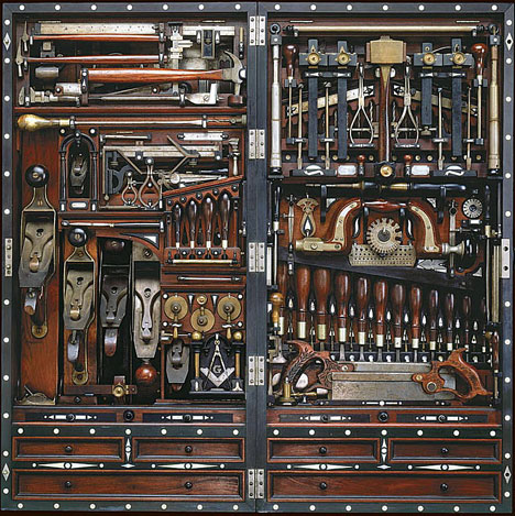 Charmant God Knows How Many Years It Took Him To Perfect This Thing, But It Holds  300 Tools In Precisely Fit Locations, Measures Just 40 Inches Tall, 20  Inches Wide ...