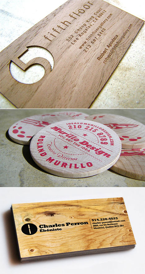 Wooden business cards green in one sense not green in another making business cards out of wood isnt new and you can see a massive roundup of them here but we like wisconsin design student staci pauls reheart Choice Image