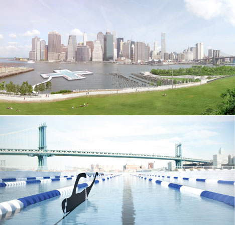 With pool design trio aims to make manhattan 39 s east river swimmable core77 for Manhattan public swimming pools