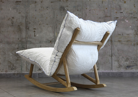 Itu0027s A Really Nice Take On A Traditional Rocking Chair: The Materials Are,  Above All Else, Quite Inviting, While The Frame Itself Is Rather Minimal.