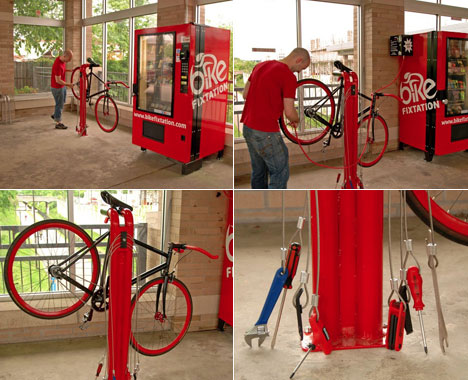 Bicycle Self Repair Vending Machines Core77