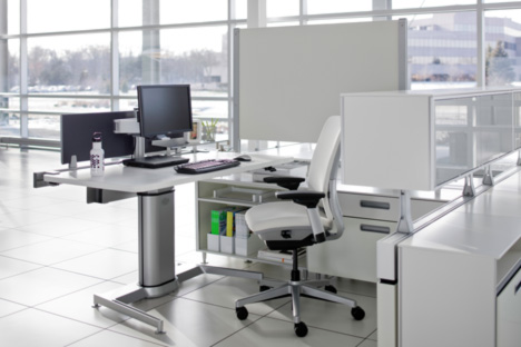 Standing Desk Shootout Steelcase Airtouch Height