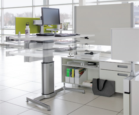 Charmant Standing Desk Shootout: Steelcase Airtouch Height Adjustable Table ...