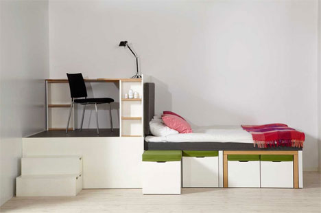 Beau To Refresh Your Memory, Matroshka Is A Collection Of Furniture That  Comprises A Living Room, Dining Room, Bedroom And Study Within 15 Square  Meters, ...